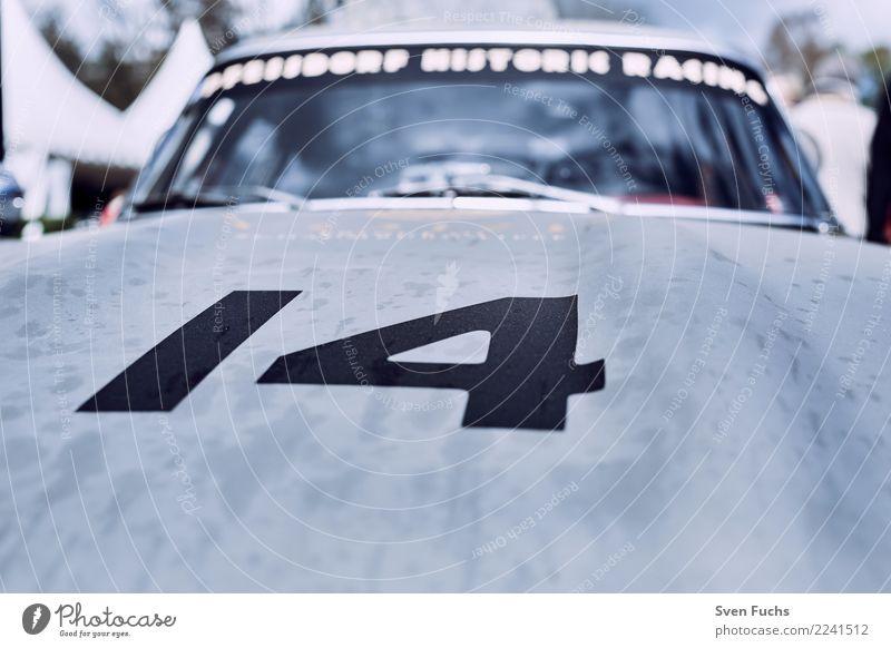 Nummer 14 auf Motorhaube Stil Motorsport Show Verkehr Autofahren Fahrzeug PKW Oldtimer Sportwagen Cockpit Lack Ziffern & Zahlen Nostalgie Versicherung Blech
