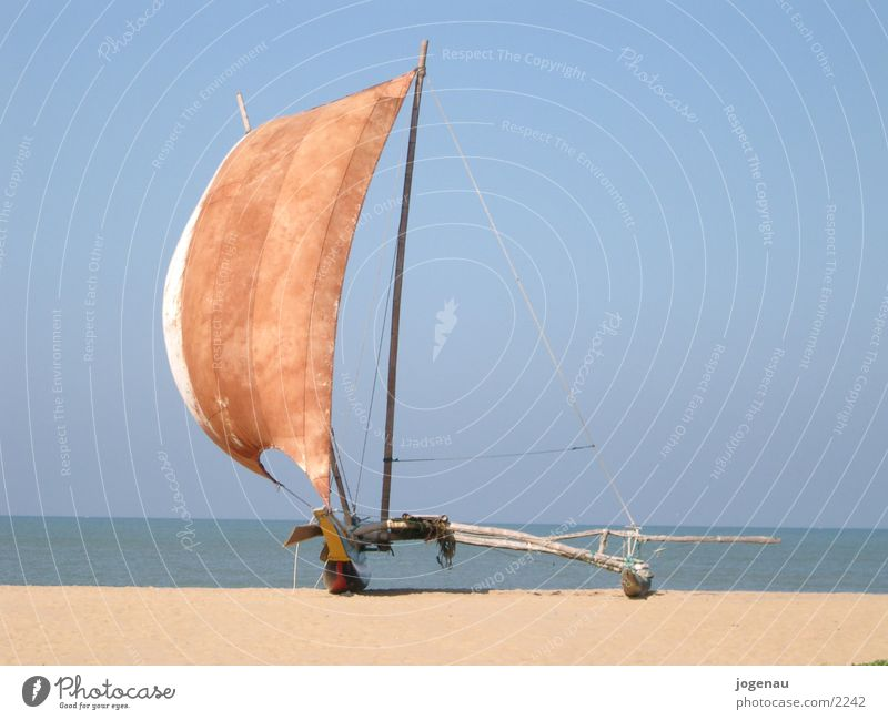 Katamaran Ferien & Urlaub & Reisen Meer Strand Wasserfahrzeug Sri Lanka Los Angeles Sand Sonne Segel