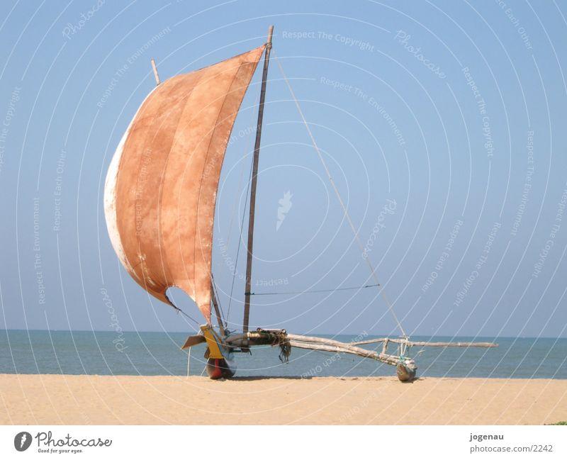 Katamaran Wasser Sonne Meer Strand Ferien & Urlaub & Reisen Sand Wasserfahrzeug Segel Los Angeles Sri Lanka