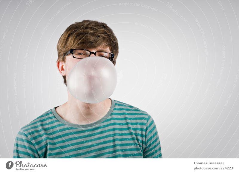 Beim Einstellungsgespraech... Mensch Jugendliche grün Gesicht schwarz Spielen Erwachsene warten groß frei maskulin Lifestyle Brille Coolness rund beobachten