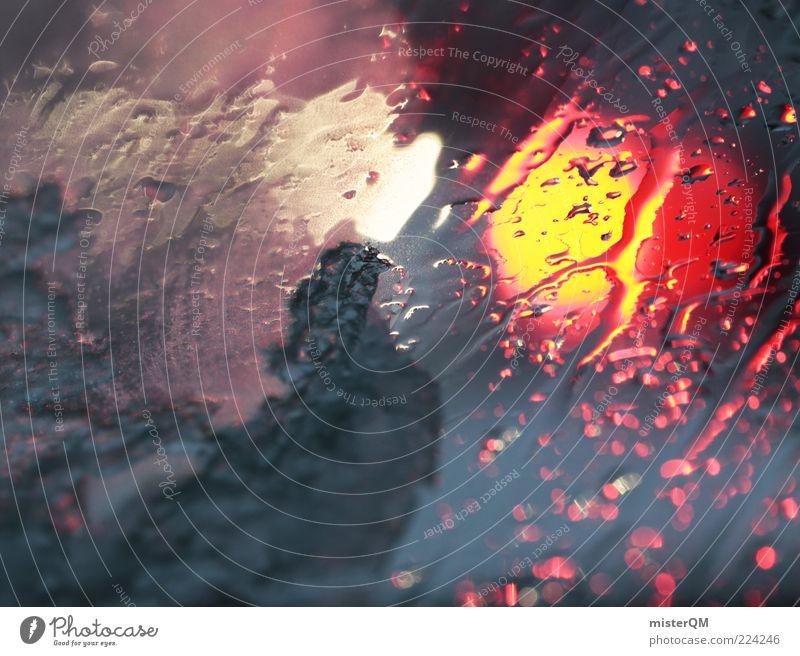 one of those days. PKW Wetter nass Wassertropfen Verkehr ästhetisch gefährlich fahren Autofenster leuchten Unwetter Regenwasser Autofahren Unfall Scheibe