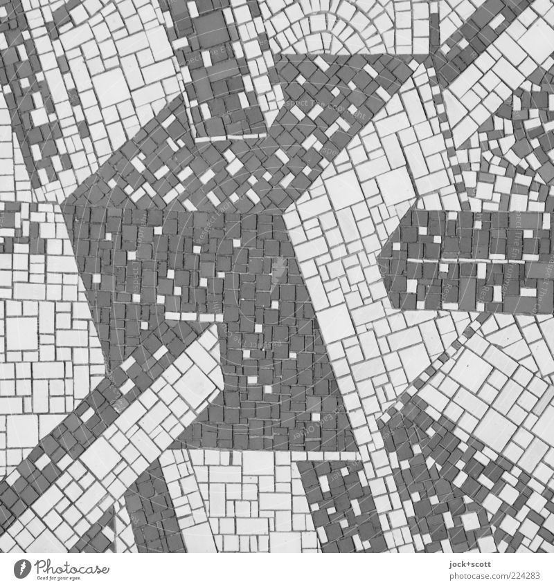 Kubus Mosaik Wissenschaften Fortschritt Zukunft Kunsthandwerk Dekoration & Verzierung Ornament Quadrat retro innovativ komplex Kreativität Netzwerk Symmetrie