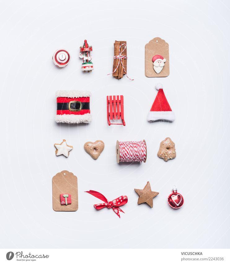 Layout with Weihnachtsdeko Weihnachten & Advent Winter Stil Feste & Feiern Design Dekoration & Verzierung kaufen Zeichen Symbole & Metaphern Postkarte Sammlung