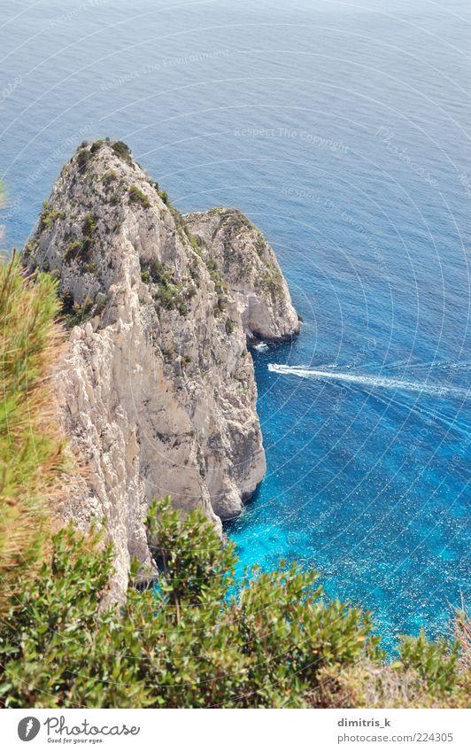 Natur schön Himmel Sonne Meer grün blau Pflanze Sommer Strand Ferien & Urlaub & Reisen Berge u. Gebirge Landschaft Wasserfahrzeug Küste