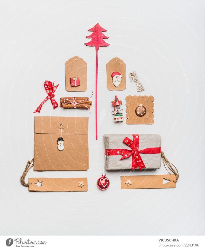 Weihnachtsbaum gemacht mit Kraftpapier Verpackung Weihnachten & Advent Winter Stil Feste & Feiern Design Dekoration & Verzierung kaufen Zeichen