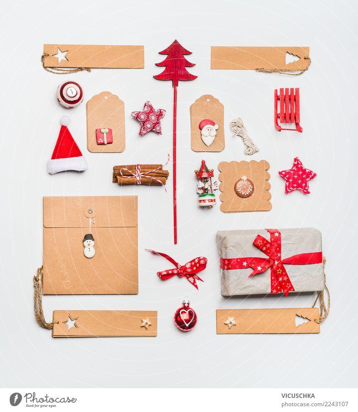 Weihnachten Stillleben mit Kraftpapier Weihnachten & Advent Winter Party Feste & Feiern Design Dekoration & Verzierung kaufen Zeichen Symbole & Metaphern viele