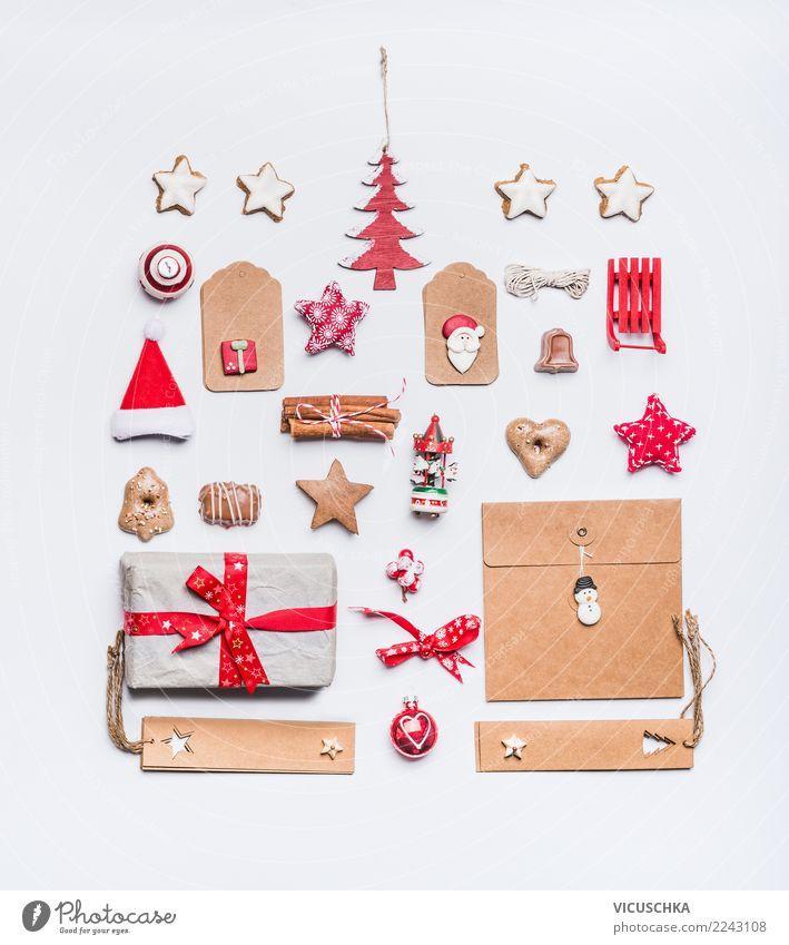 Weihnachten Stillleben mit Kraftpapier, Layout kaufen Design Winter Party Veranstaltung Feste & Feiern Weihnachten & Advent Dekoration & Verzierung Zeichen