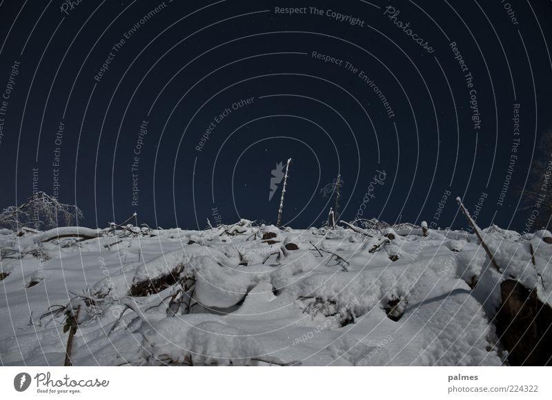 Mondlandschaft Himmel Natur Winter dunkel Schnee Gefühle Landschaft Umwelt Stimmung Wetter Eis Frost Wolkenloser Himmel