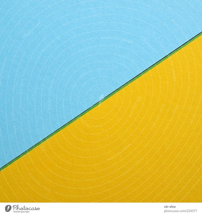 mischfarbe blau grün Farbe gelb Hintergrundbild Kunst Linie Design frisch Dekoration & Verzierung Kreativität Papier Grafik u. Illustration graphisch diagonal