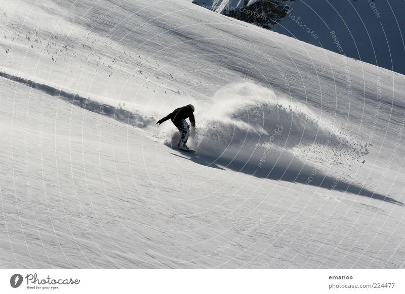 spray Mensch Natur Jugendliche Junger Mann Landschaft Freude Winter 18-30 Jahre Berge u. Gebirge Erwachsene Schnee Stil Sport Lifestyle Freiheit