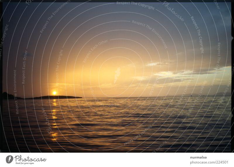 vor Athen Ferne Freiheit Sommer Sonne Meer Insel Wellen Umwelt Natur Klima Schönes Wetter Bucht glänzend leuchten Stimmung ästhetisch Farbfoto Abend Dämmerung