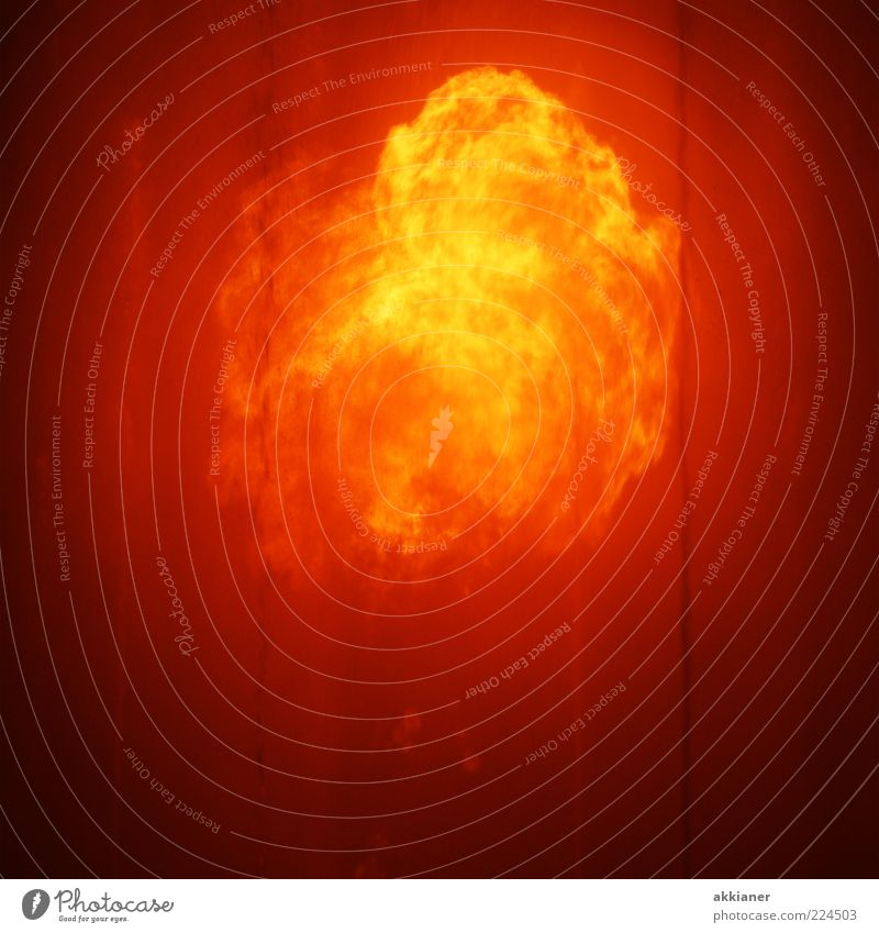 Feuer!!! gelb Wärme hell orange gold Feuer wild bedrohlich Urelemente heiß gewaltig Feuerball