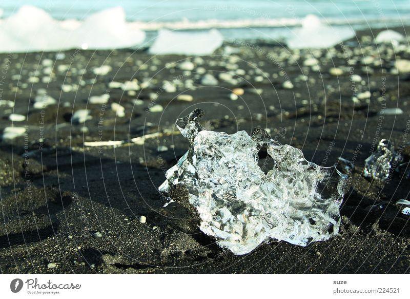 Crystal Natur Ferien & Urlaub & Reisen weiß Meer Strand Einsamkeit schwarz Umwelt kalt Küste Sand Eis außergewöhnlich Wellen Klima Urelemente