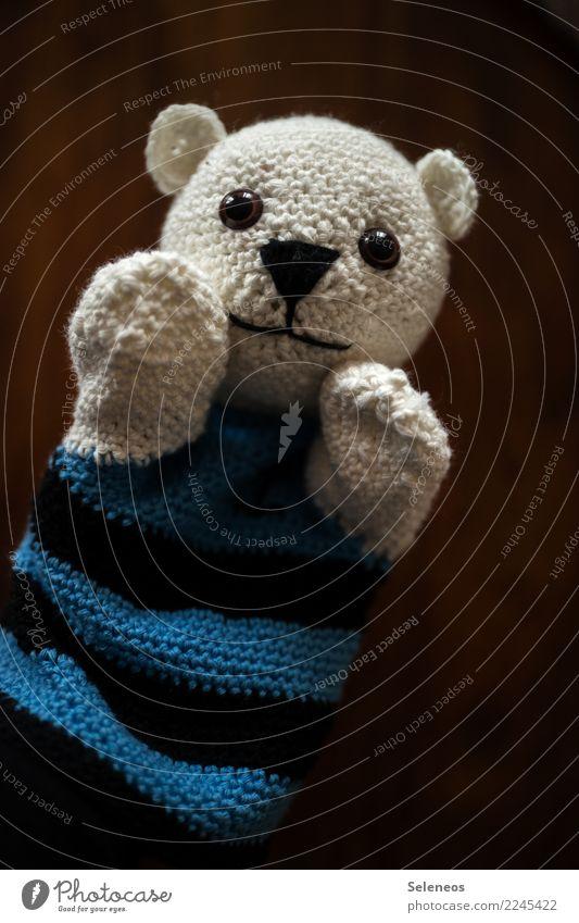 Weihnachtsgeschenk Freizeit & Hobby Handarbeit häkeln Puppe Handpuppe Teddybär Spielzeug niedlich weich Farbfoto Innenaufnahme