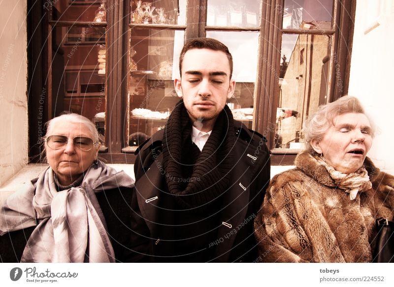 verblühen Mensch Jugendliche alt Senior ruhig Leben Fenster Stil Erwachsene Traurigkeit Familie & Verwandtschaft lustig Zusammensein elegant Mode verrückt