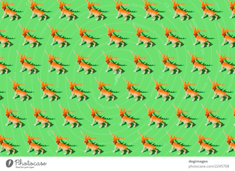 Deer Muster Hintergrund Design Dekoration & Verzierung Feste & Feiern Weihnachten & Advent Kunst Tier Baum Spielzeug Ornament rot Hirsche Konsistenz Feiertag