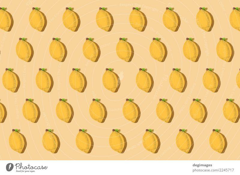 Zitronen wiederholten Muster Frucht Design Tapete Natur frisch hell blau gelb grün weiß Hintergrund Lebensmittel Zitrusfrüchte orange sehr wenige Kalk