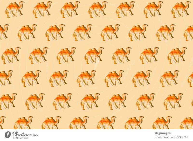 Kamel wiederholte Zahlen Design Ferien & Urlaub & Reisen Dekoration & Verzierung Kunst Tier Spielzeug Souvenir Ornament alt braun Tradition Camel Hintergrund