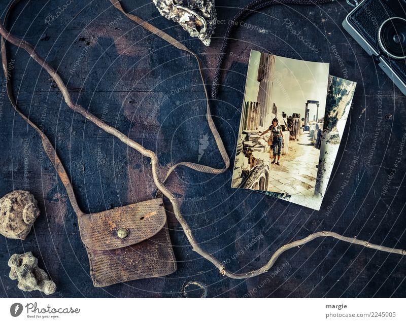 zeitlos | Urlaubserinnerungen Frau Mensch Ferien & Urlaub & Reisen Jugendliche Junge Frau Sommer Ferne schwarz Erwachsene Architektur feminin Tourismus braun