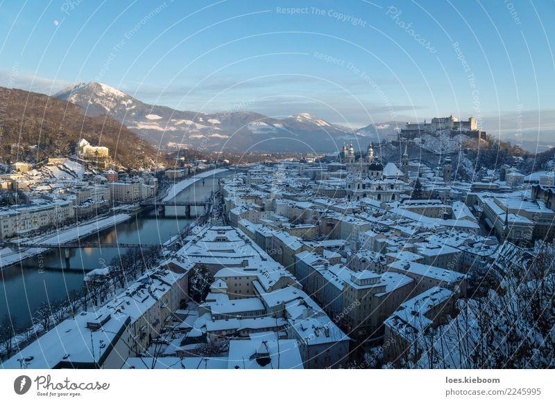 Winterwonderland Salzburg Ferien & Urlaub & Reisen Sightseeing Städtereise Weihnachten & Advent Silvester u. Neujahr Natur Alpen Berge u. Gebirge Stadt Skyline