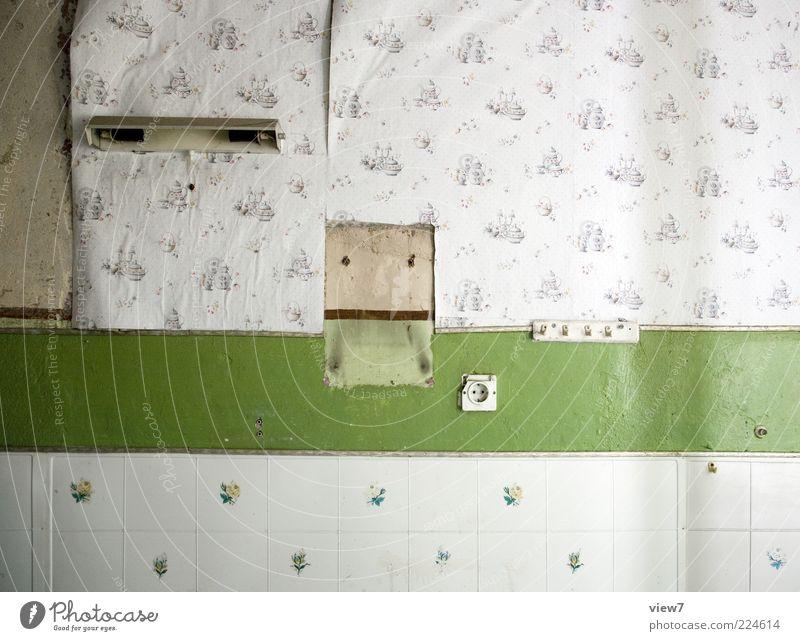 Lebensspuren alt Linie Raum dreckig leer Küche Streifen authentisch Dekoration & Verzierung Vergänglichkeit einfach Fliesen u. Kacheln Tapete Vergangenheit schäbig Unbewohnt