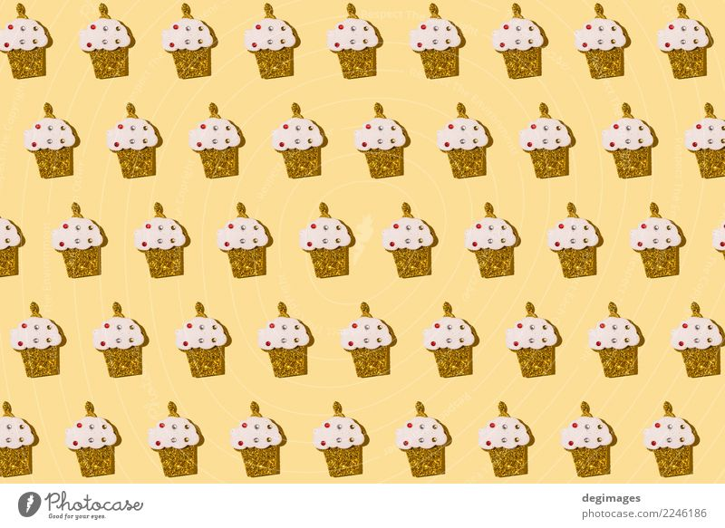 Muffin wiederholte Muster Dessert Design Glück Dekoration & Verzierung Tapete Feste & Feiern Geburtstag Kunst lecker niedlich rosa Hintergrund übergangslos