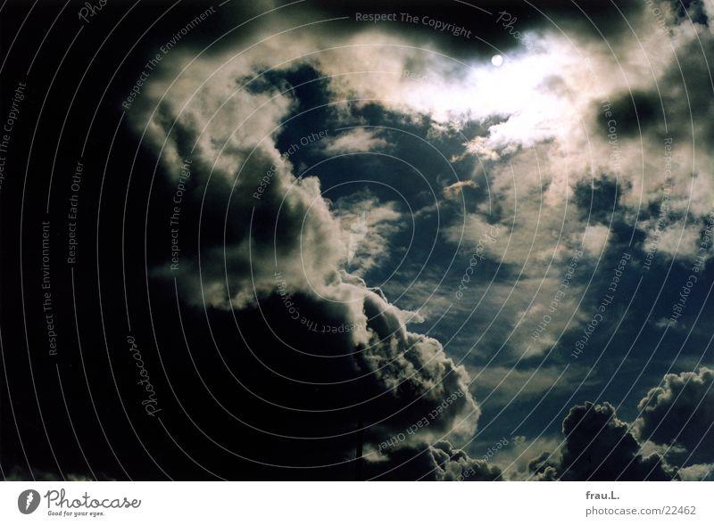 Sonne +  Regenwolken Himmel Sommer Wolken dunkel hell
