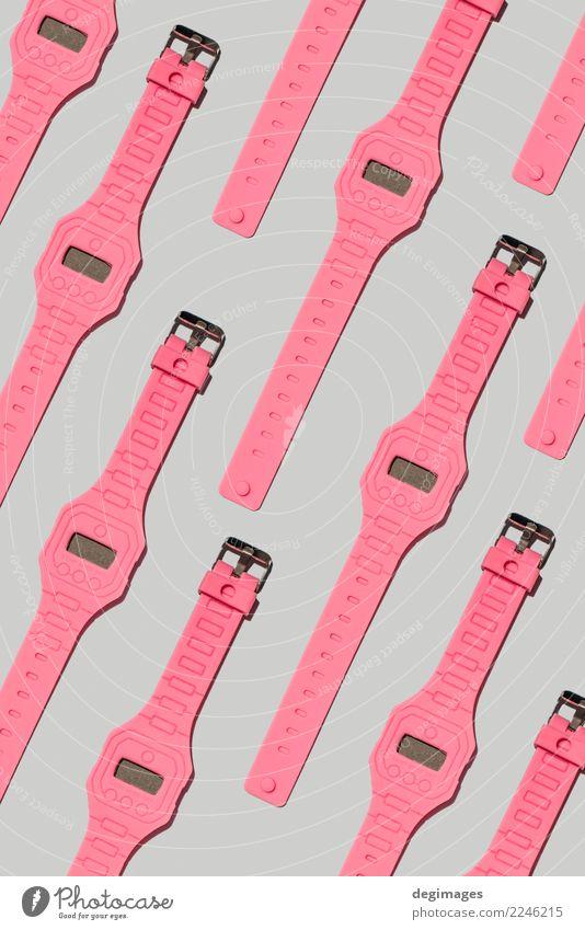 Rosa Uhrmuster der hellen Farbhand Stil Design Dekoration & Verzierung Tapete Kunst Mode Stoff Papier Ornament modern Farbe Hintergrund übergangslos farbenfroh