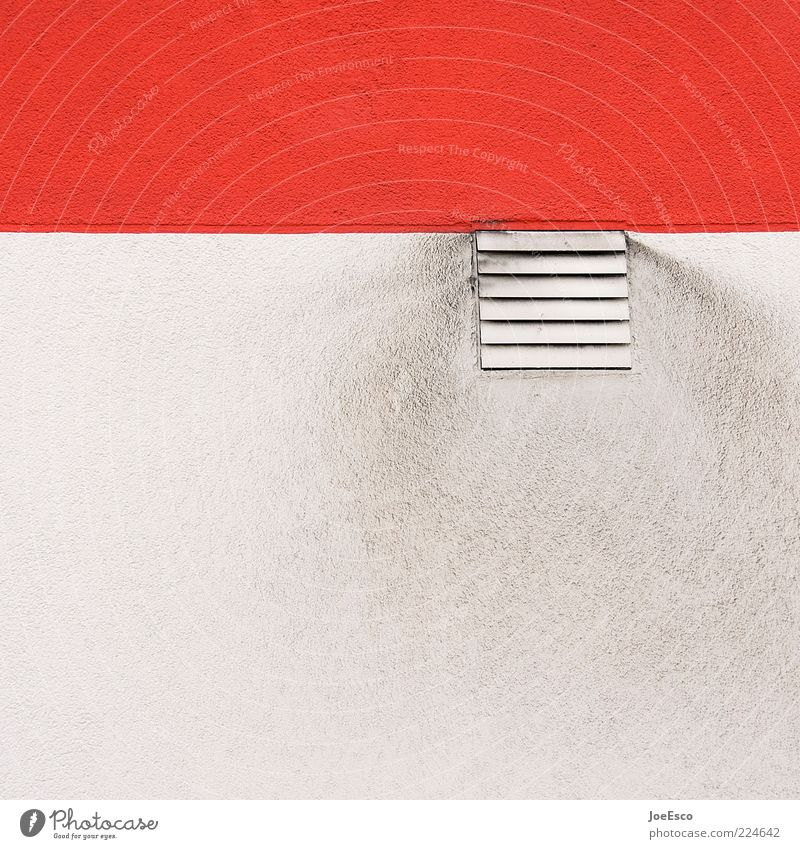 #224642 dreckig rot geteilt Gitter Abluft Abgas ausstoßen Kontrast Farbfoto Außenaufnahme Nahaufnahme Detailaufnahme Menschenleer Textfreiraum oben Tag