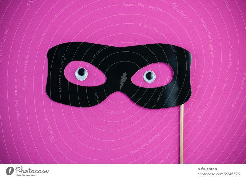Anonym Feste & Feiern Karneval Halloween Maske Brille Kommunizieren Blick Neugier rosa schwarz Verschwiegenheit einzigartig Religion & Glaube Überwachung