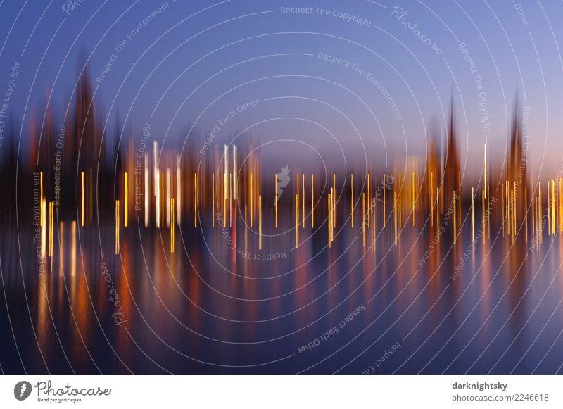Dresden Panorama Vertikale Bewegung Tourismus Sightseeing Städtereise Weihnachten & Advent Landschaft Himmel Nachthimmel Sonnenaufgang Sonnenuntergang Fluss