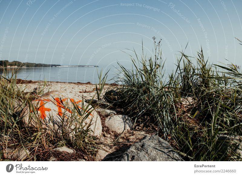 in Sachen Kultur Himmel Natur Ferien & Urlaub & Reisen nackt Sommer Landschaft Meer Erholung ruhig Strand Leben Umwelt Tourismus Freiheit Stein frei