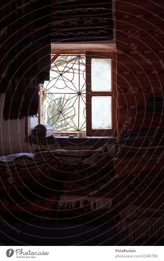 #A# Window Hütte ästhetisch Fenster Marokko Marrakesch Kammer Raum Farbfoto Gedeckte Farben Außenaufnahme Nahaufnahme Experiment abstrakt Menschenleer