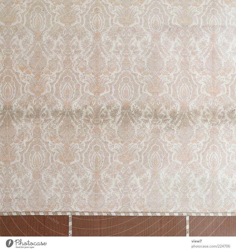 Ornament alt Linie braun Raum dreckig Hintergrundbild ästhetisch leer retro Streifen authentisch Dekoration & Verzierung Vergänglichkeit Tapete Umzug (Wohnungswechsel) schäbig