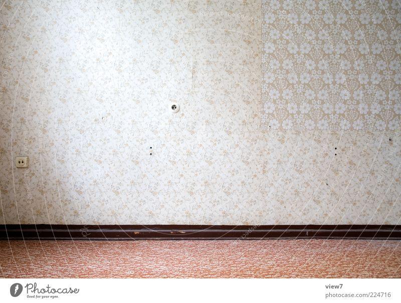 Tapetenwechsel alt rot Wand Linie hell Raum elegant Design Ordnung ästhetisch einzigartig Dekoration & Verzierung Vergänglichkeit Vergangenheit positiv