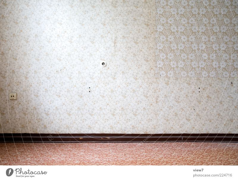 Tapetenwechsel alt rot Wand Linie hell Raum elegant Design Ordnung ästhetisch einzigartig Dekoration & Verzierung Vergänglichkeit Tapete Vergangenheit positiv