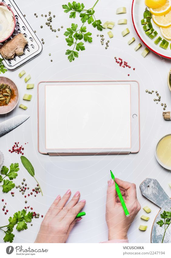Moderne personalisierte Ernährung Plan Lebensmittel Gemüse Bioprodukte Vegetarische Ernährung Diät Geschirr kaufen Stil Design Gesundheit Gesundheitswesen