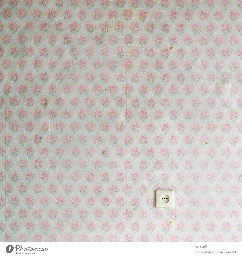 Mädchenzimmer alt klein Raum rosa Ordnung Dekoration & Verzierung einzigartig retro niedlich Vergänglichkeit Kitsch Frieden Tapete Siebziger Jahre Ornament