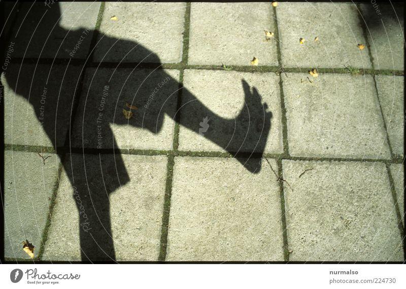 mein Fuß Lifestyle Freizeit & Hobby Spielen maskulin Beine 1 Mensch Kunst Umwelt Sommer Schönes Wetter Zeichen Bewegung laufen Coolness verrückt stark skurril