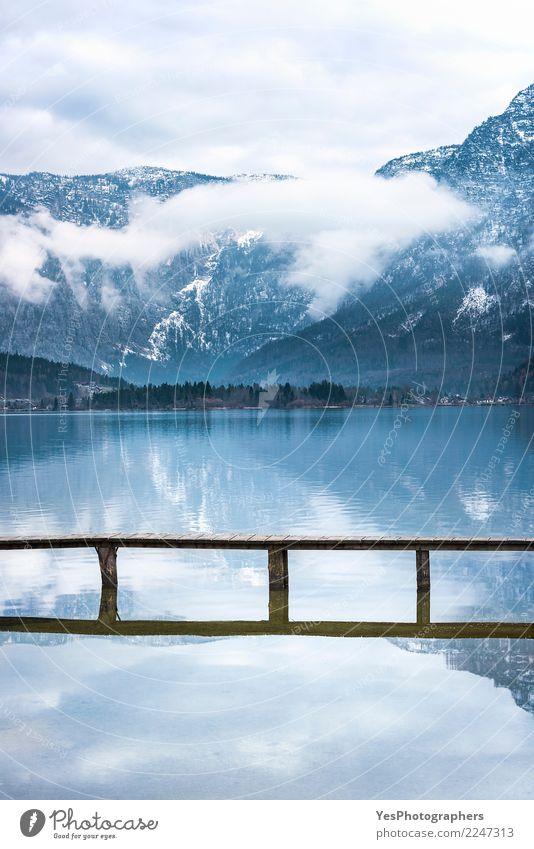 Alpenberge reflektiert im Wasser Natur Ferien & Urlaub & Reisen schön Freude Berge u. Gebirge Tourismus Freiheit See Horizont Europa einzigartig Brücke Frieden