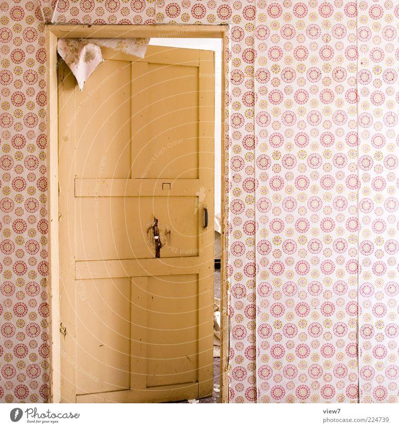 neue Ufer alt Wand Holz Mauer braun Tür Raum rosa modern ästhetisch offen Innenarchitektur authentisch retro einfach Vergänglichkeit