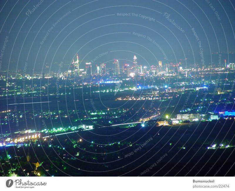 Frankfurt bei Nacht Frankfurt am Main Skyline