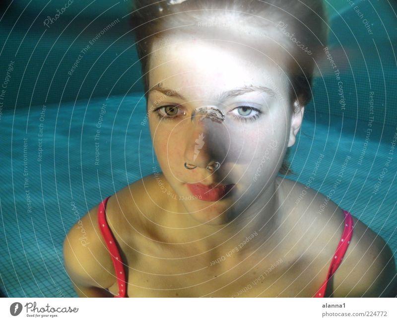 Venus tauchen Schwimmbad Mensch feminin Junge Frau Jugendliche 1 Wasser ästhetisch Flüssigkeit frisch gut schön einzigartig natürlich positiv Sauberkeit dünn