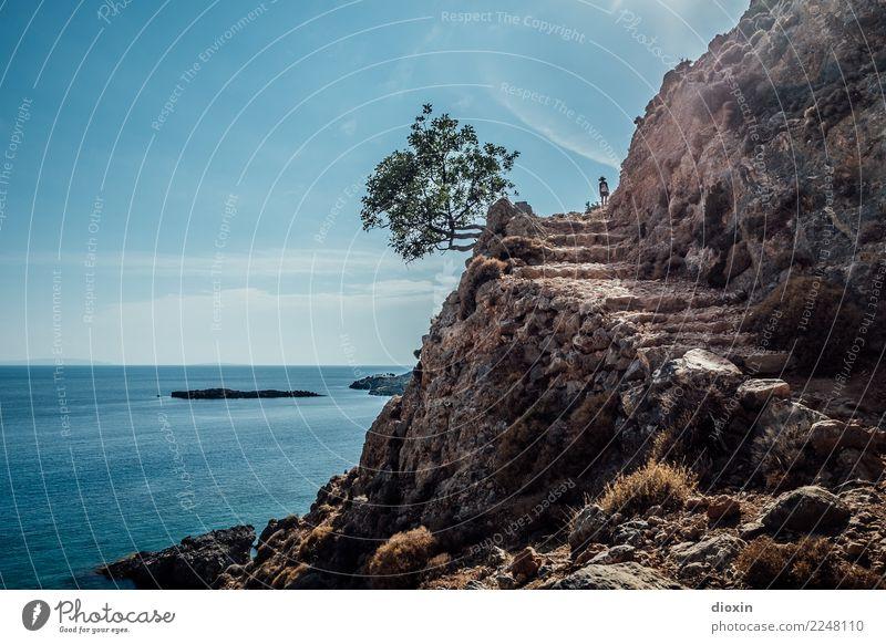Freizeitspaß | neue Wege gehen Himmel Natur Ferien & Urlaub & Reisen Pflanze Sommer Wasser Landschaft Sonne Baum Meer Wolken Ferne Umwelt Küste Tourismus Felsen