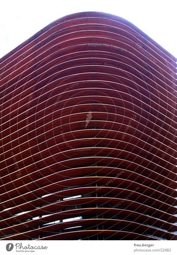 architektur mit struktur Holz braun Architektur Lamelle Münster gebaüde