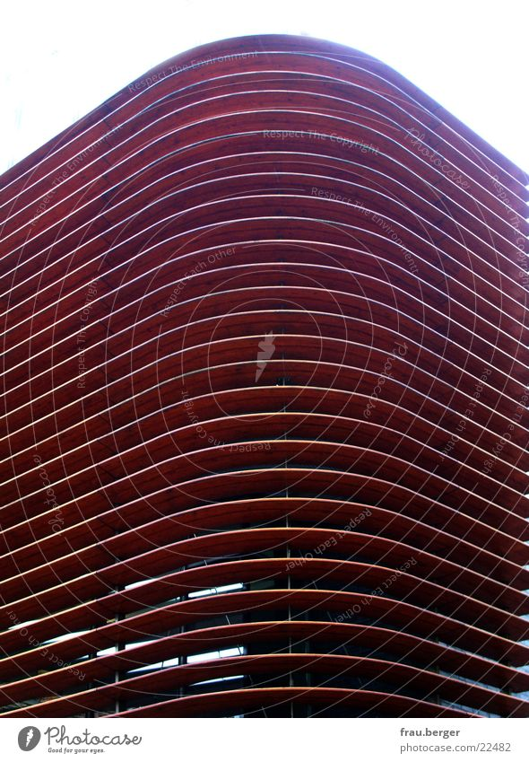 architektur mit struktur Holz braun Architektur Münster Lamelle