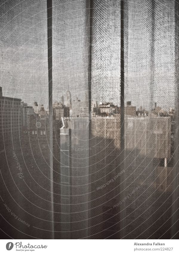 Zimmer mit Aussicht II. New York City USA Amerika Haus Hochhaus Gebäude Architektur Sehenswürdigkeit Wahrzeichen Empire State Building ästhetisch Vorhang