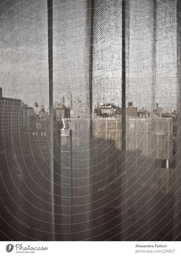 Zimmer mit Aussicht II. Stadt Haus Architektur Gebäude geschlossen Hochhaus ästhetisch trist USA Reisefotografie Amerika Vorhang Wahrzeichen Gardine