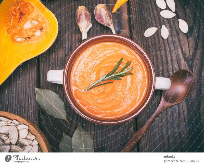 Resh Kürbissuppe Gemüse Suppe Eintopf Kräuter & Gewürze Essen Mittagessen Abendessen Vegetarische Ernährung Schalen & Schüsseln Löffel Dekoration & Verzierung