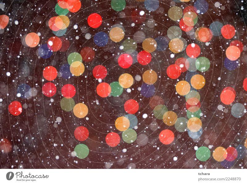 Weihnachtshintergrund Design schön Winter Dekoration & Verzierung Feste & Feiern Weihnachten & Advent Kunst Baum glänzend hell neu weich blau gelb gold rot weiß
